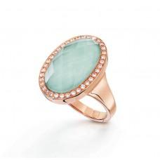 Кольцо My little Mystery Jewel с ice green фарфора и горного хрусталя