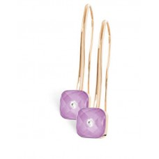 Серьги My little Mystery Diamond purple rose фарфора и горного хрусталя