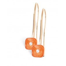 Серьги My little Mystery Diamond m. tangerine оранжевый фарфор Bergkrist.