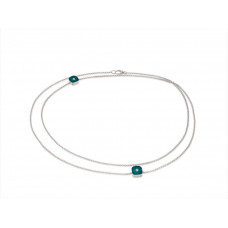 Ожерелье My little Mystery Diamond с royal green фарфора и горного хрусталя