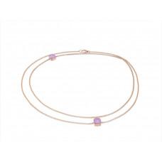 Ожерелье My little Mystery Diamond purple rose фарфора и горного хрусталя