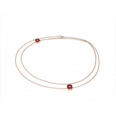 Ожерелье My little Mystery Diamond с imperial red фарфора и горного хрусталя