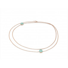 Ожерелье My little Mystery Diamond с ice green фарфора и горного хрусталя
