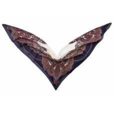 Groэто ткань в 65% 35% модал, Пейсли, темно-Марино, 140 x шерсть/140 см