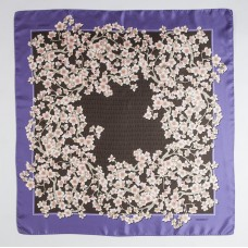 Ткань 100% шелк, Cherry Blossom, lavanda, 90x90 см