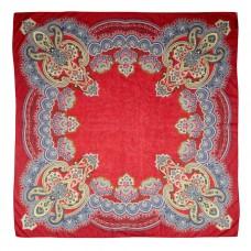 Groэто ткань в 65% 35% модал, Пейсли, rosso, 140 x шерсть/140 см
