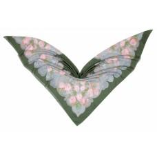 Groэто ткань 75% хлопок/25% шелк, Peonia, verde, 140 x 140 см