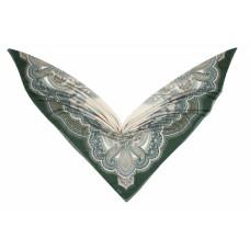 Groэто ткань 75% хлопок/25% шелк, Пейсли, verde, 140 x 140 см