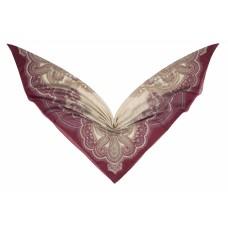 Groэто ткань 75% хлопок/25% шелк, Пейсли, rosso, 140 x 140 см