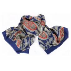Шарф платок 100% шелк, Пейсли шарф, Марьино, 180 x 68 см