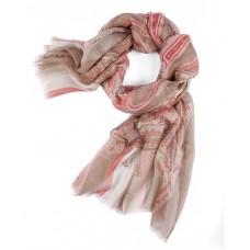 Шарф в 85% модал/15% шелк, English Пейсли дизайн в пастельных бежевого цвета с roséцвета эффектов, 180 x 68 см