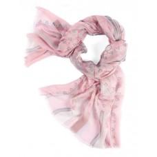 Шарф в 85% модал/15% шелк, English Пейсли дизайн, пастельные цвета rosé с серыми эффектами, 180 x 68 см