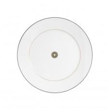 Закуска- & десертная тарелка, Stripes, зеркало золота нить, синяя рамка, розетка по центру, Ø 22 см